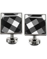 Würkin Stiffs Black Plaid Cufflinks - Lyst