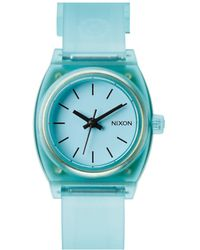 Nixon The Small Time Teller P Translucent Mint Watch - Lyst