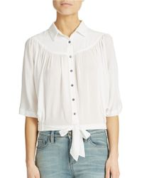 Free People Sheilas Drape And Tie Top - Lyst