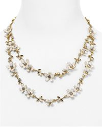 "Kate Spade - Pretty Petals Necklace, 16"" - Lyst"