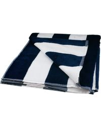 Black.co.uk Nautical Navy and White Striped Eygptian Cotton Beach Towel - Lyst