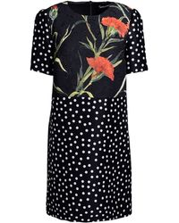 Dolce & Gabbana Short Dress floral - Lyst