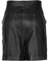 Emanuel Ungaro - Leather Laser Cut Cargo Short - Lyst