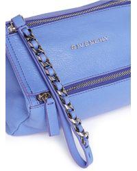 Givenchy Pandora' Leather Wristlet Pouch purple - Lyst