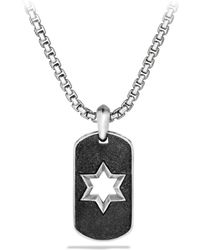 David Yurman Exotic Stone Star Tag Necklace silver - Lyst