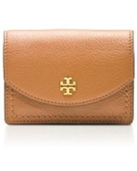 Tory Burch Emerson Foldable Card Case with Key Ring - Lyst