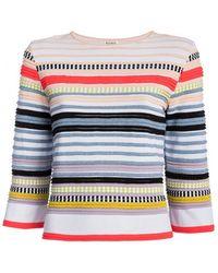 Suno Neon Stripe Ottoman Knit Top - Lyst