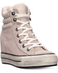 Converse Womens Chuck Taylor All Star Platform Plus Hi Casual Sneakers From Finish Line - Lyst