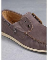 John Varvatos Schooner Boat Shoe - Lyst