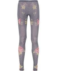 McQ by Alexander McQueen Printed Stretch-jersey Leggings - Lyst