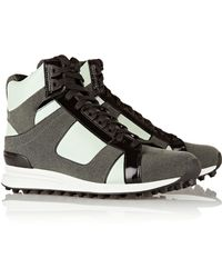 3.1 Phillip Lim | Trance Leather And Suede High-Top Sneakers | Lyst