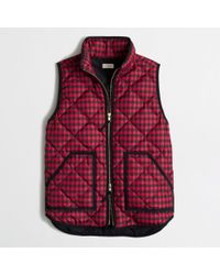 J.Crew Factory Novelty Quilted Puffer Vest - Lyst
