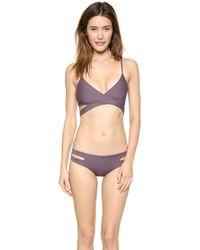 L*space L Chloe Wrap Bikini Top - Pebble - Lyst