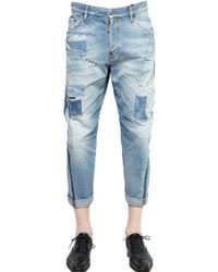DSquared² 20Cm Workwear Patched Denim Jeans - Lyst