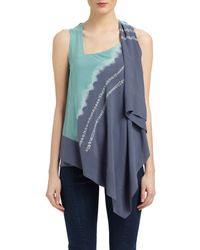 Donna Karan New York Sleeveless Stretch Silk Top - Lyst
