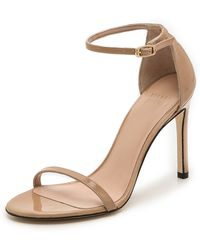 Stuart Weitzman Nudist 90mm Sandals  Adobe - Lyst