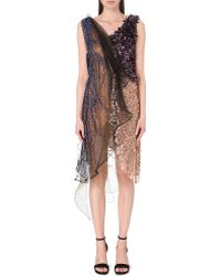 Rodarte Embellished Netting Sequin Dress - For Women purple - Lyst