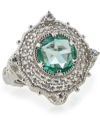 Judith Ripka | Paraiba Spinel Luna Cocktail Ring W/ Sapphires | Lyst