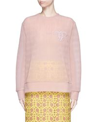 Emilio Pucci | Logo Embroidery Double Tulle Sweatshirt | Lyst