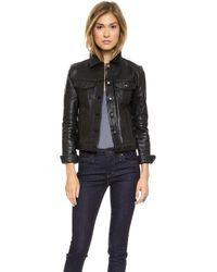 Joe's Jeans Leather Jacket Black - Lyst