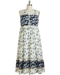 Moon Collection Patchwork Of Flowers Dress - Lyst