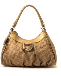 Gucci Gold Leather Handbag gold - Lyst