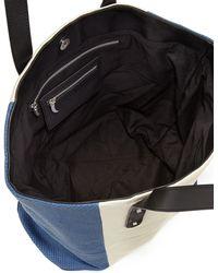 Romy Gold | Metallic Color Block Tote Bag | Lyst