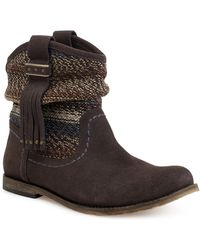 The Sak Jezebelle Suede And Knit Boots - Lyst
