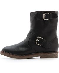 Madewell The Casey Shearling Boots - True Black - Lyst