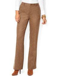 Ralph Lauren Lauren Tweed Flared Pants - Lyst