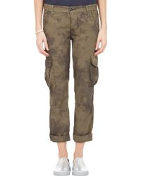 NSF Clothing Basquit Crop Cargo Trousers - Lyst