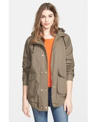 Vince Camuto Hooded Cotton Blouson Jacket - Lyst