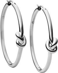 Michael Kors Smooth Knot Hoop Earrings - Lyst