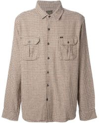 Obey Houndstooth Shirt - Lyst