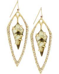 Alexis Bittar Open Opalescent-Drop Earrings - Lyst