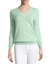 Equipment Cecile Lightweight V-Neck Sweater - Lyst