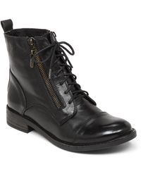 Lucky Brand Nahdia Leather Ankle Boots - Lyst
