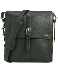 Cole Haan Pebbled Leather North South Messenger Bag - Lyst