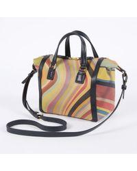 Paul Smith Swirl Print Calf Leather Mini Ziggy Bag multicolor - Lyst