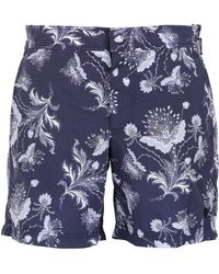 Alexander McQueen Bandana Printed Canvas Swimming Shorts - Lyst