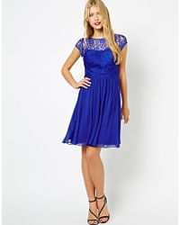 Coast Lisanne Dress with Lace Top - Lyst