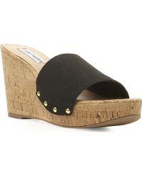Steve Madden Elasticated Wedge Sandal - For Women - Lyst
