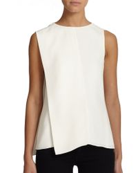 Narciso Rodriguez Asymmetrical Silk Blouse white - Lyst