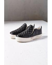 Ash Jodie Quilted Zip Slip-on Sneaker - Lyst