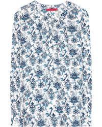 Tamara Mellon Printed Silk Blouse - Lyst