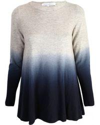 Gladys & Pixie Grey Dip Dyed Sweater - Lyst