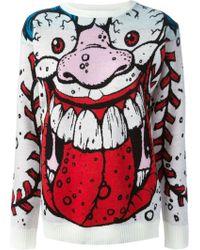 Jeremy Scott Monster Motif Sweater - Lyst