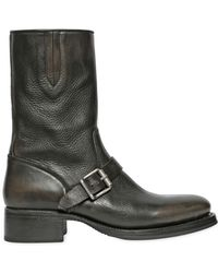 DSquared² | Belted Brushed Faded Leather Boots | Lyst