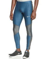 Nike Kiger Colorblocked Dri-fit Tights - Lyst