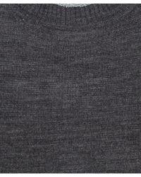 Paul Smith Black Label - Grey Lurex Trim Merino Wool Jumper - Lyst